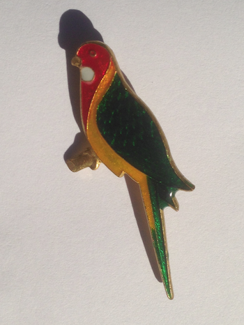 Rosella Pin close up